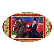 American Saddlebred Horse Christmas Decal