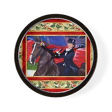 American Saddlebred Horse Christmas Wall Clock
