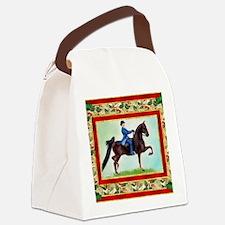 American Saddlebred Horse Christm Canvas Lunch Bag