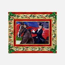 American Saddlebred Horse Christmas Throw Blanket