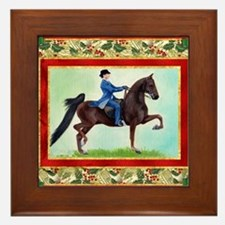 American Saddlebred Horse Christmas Framed Tile