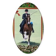 American Saddlebred Horse Christmas Bumper Stickers