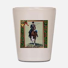 American Saddlebred Horse Christmas Shot Glass
