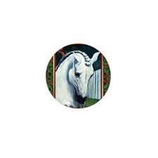 Andalusian Horse Christmas Mini Button