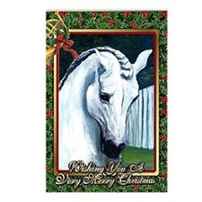Andalusian Horse Christma Postcards (Package of 8)