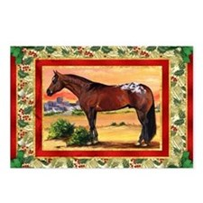 Appaloosa Horse Christmas Postcards (Package of 8)