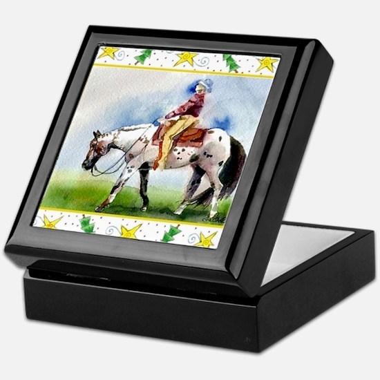 Appaloosa Horse Christmas Keepsake Box