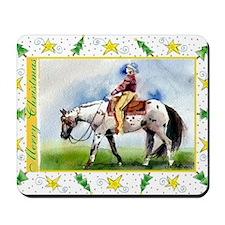 Appaloosa Horse Christmas Mousepad