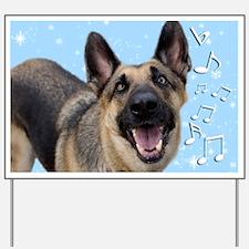German Shepherd Chrismas Card Yard Sign
