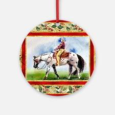 Appaloosa Western Pleasure Christma Round Ornament