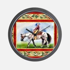 Appaloosa Western Pleasure Christmas Wall Clock