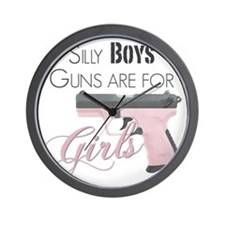 Guns are for Girls Wall Clock
