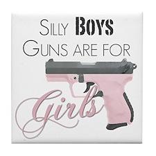 Guns are for Girls Tile Coaster
