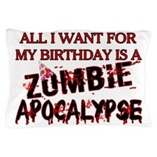 Birthday Zombie Apocalypse Pillow Case