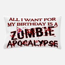 Birthday Zombie Apocalypse Pillow Case