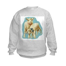 Easter Spring Lambs Blue Sweatshirt