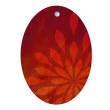 Flame Oval Ornament