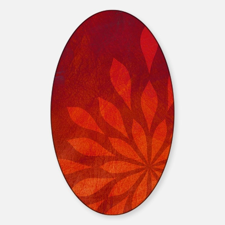 Flame Sticker (Oval)