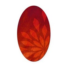 Flame Oval Car Magnet