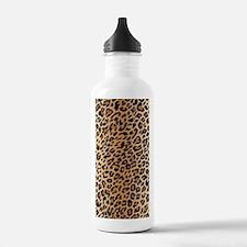 Leopard Print Sports Water Bottle