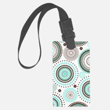 Turquoise Circles Luggage Tag