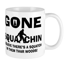 Gone Squatchin Bigfoot In Woods Mug