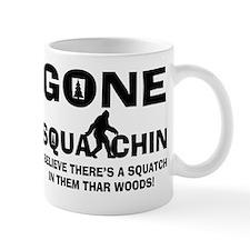 Gone Squatchin Bigfoot In Woods Small Mug