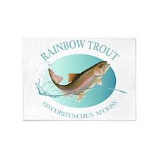Rainbow Trout 5'x7'Area Rug