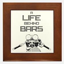 A Life Behind Bars Framed Tile