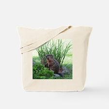 Groundhog in garden Tote Bag