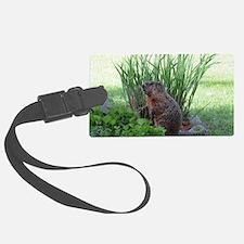 Groundhog in garden Luggage Tag