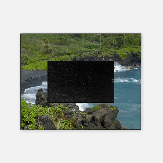 Black Sands Beach Maui Picture Frame
