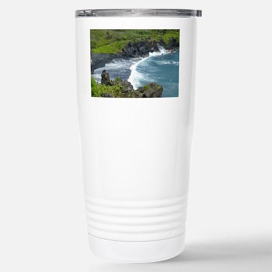 Black Sands Beach Maui Stainless Steel Travel Mug