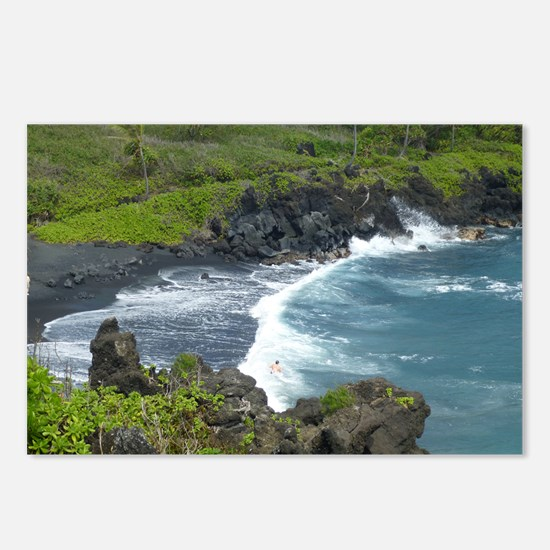Black Sands Beach Maui Postcards (Package of 8)
