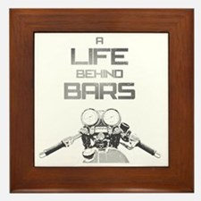 A Life Behind Bars Framed Tile