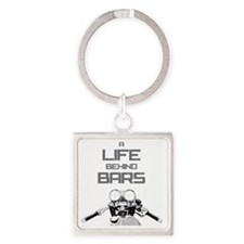 A Life Behind Bars Square Keychain