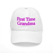 First Time Grandma Baseball Baseball Cap