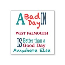 "West Falmouth Square Sticker 3"" x 3"""