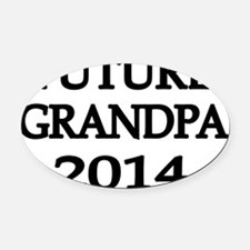 FUTURE GRANDPA 2014 Oval Car Magnet