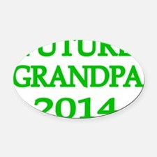 FUTURE GRANDPA 2014-2 Oval Car Magnet