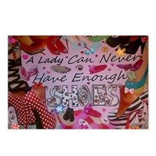 Never Enough Shoes Postcards (Package of 8)