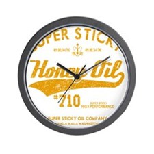 Super Sticky Honey Oil Wall Clock