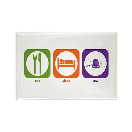 Eat Sleep Sew Rectangle Magnet (100 pack)