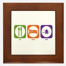 Eat Sleep Sew Framed Tile