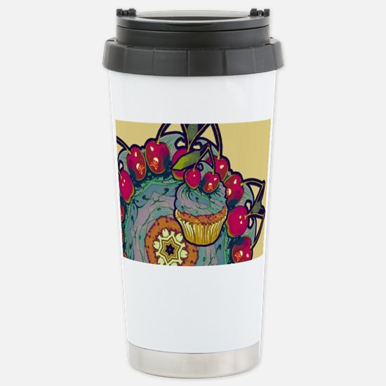 Deadly Cupcake Stainless Steel Travel Mug