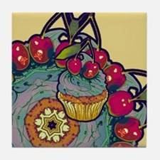 Deadly Cupcake Tile Coaster