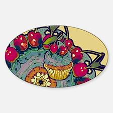 Deadly Cupcake Sticker (Oval)