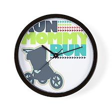 Run Mommy Run - Stroller Wall Clock