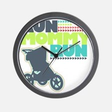 Run Mommy Run - Stroller Wall Clock