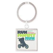 Run Mommy Run - Stroller Square Keychain